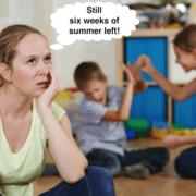 Summer mom tired.