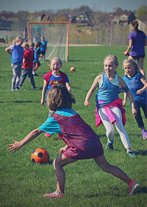 YEL Soccer classes for kids. All students participate all the time.