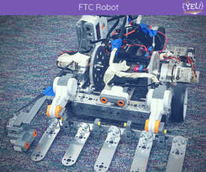 FTC Robot ready for action. Fully loaded.